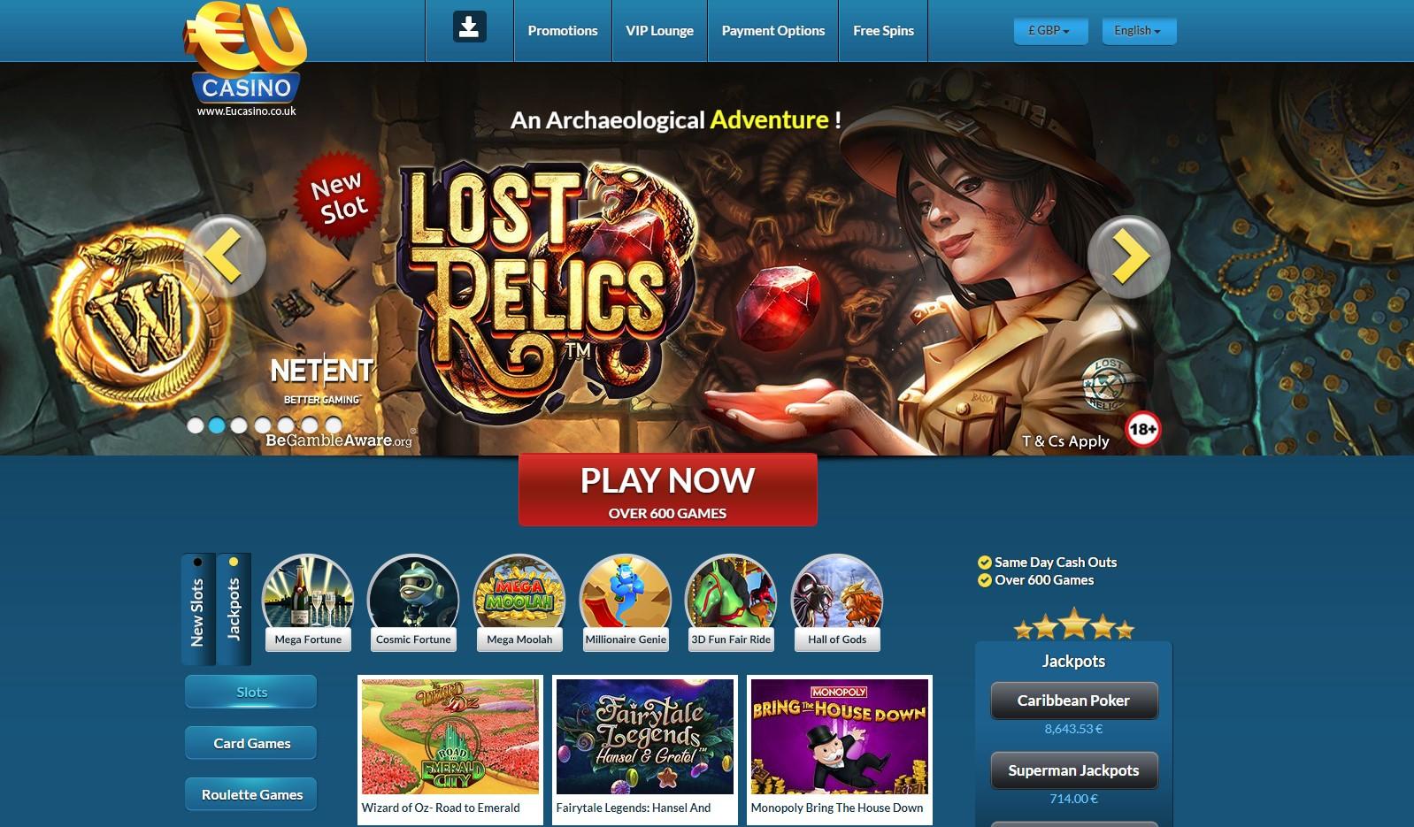 Eucasino Com Review Enjoy The Best Games And Spectacular Bonuses